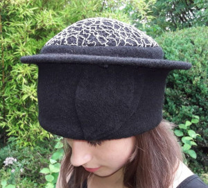 Hut weiss schwarz