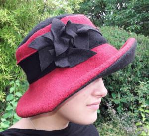 Hut rot schwarz 3